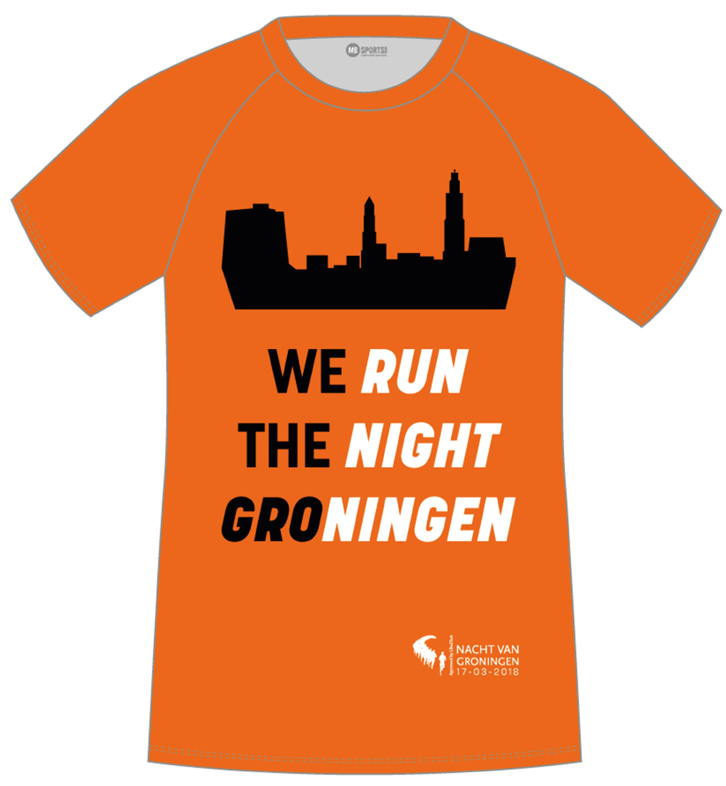 Speciaal running shirt We Run The Night Groningen